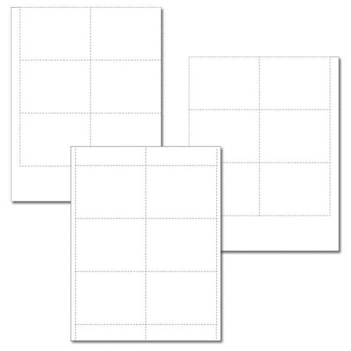 Blank I.D Card Inserts For I.D. Card Holders