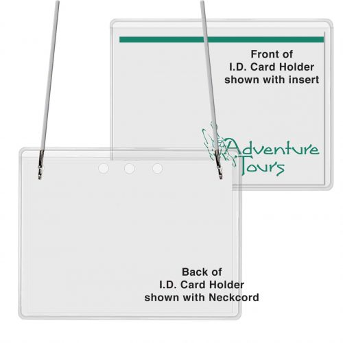 "Top Loading I.D. Name Card Holder w/Neck Cord (3"" x 4"")"