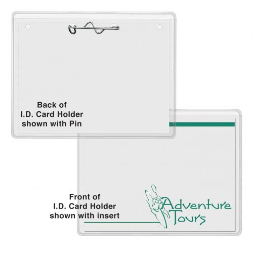 "Top Loading I.D. Name Card Holder with Pin (3"" x 4"")"