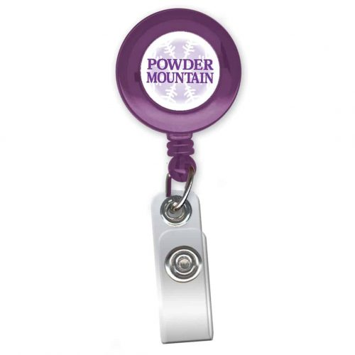 "1.25"" Round Full Color Translucent Badge Reel"