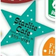Full Color 5 Point Star Shaped Magnetic Note-Holder