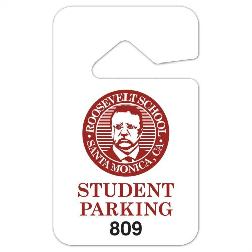 "Rear View Mirror Parking Tag (2.875"" x 4.75"")"