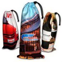 Wine Bottle Drawstring Pouch, Sublimated