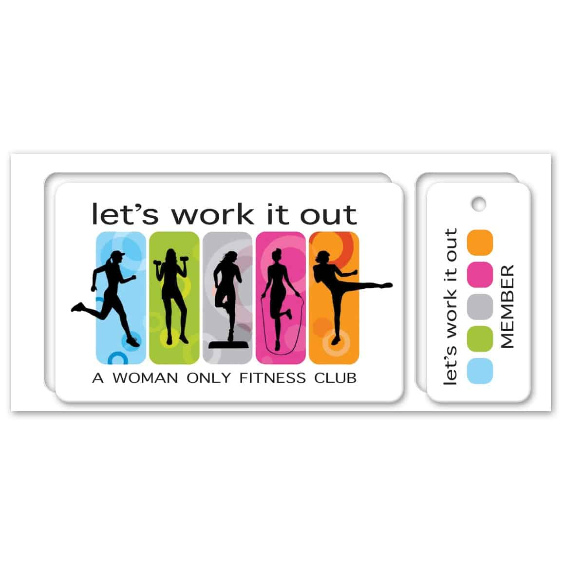 Full Color Loyalty Card with 1 Key Tag in Matrix