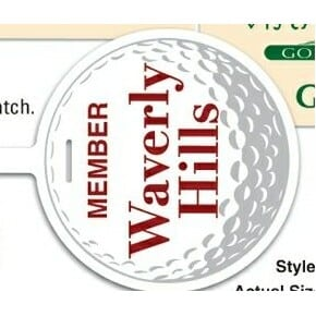 Lightweight Golf Bag Tag
