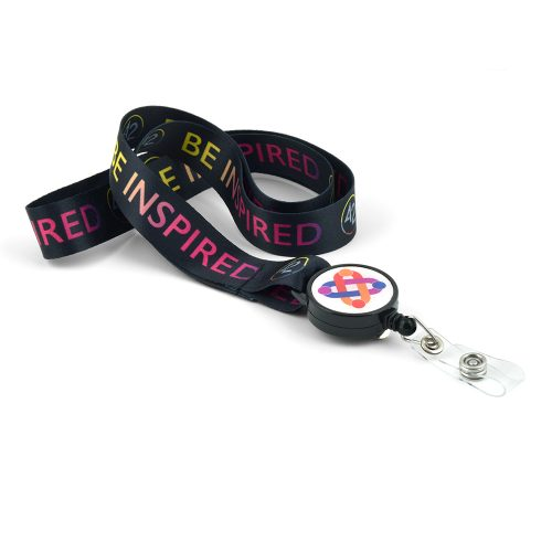 Digi-Dyed Sublimated Lanyard with Badge Reel Combo
